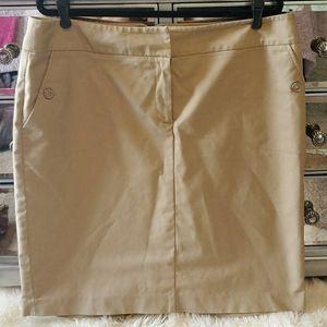 Khaki Business Casual Skirt